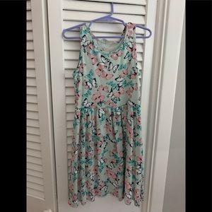 Girls butterfly dress. Never worn. Size 6-8.